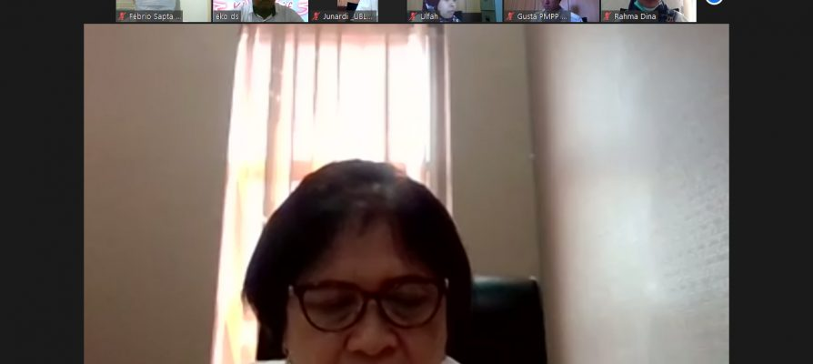 Kakan Kota Bandar Lampung Pimpin Zoom Meeting